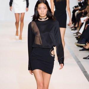 Thierry Mugler Runway Black Mini Chain Skirt